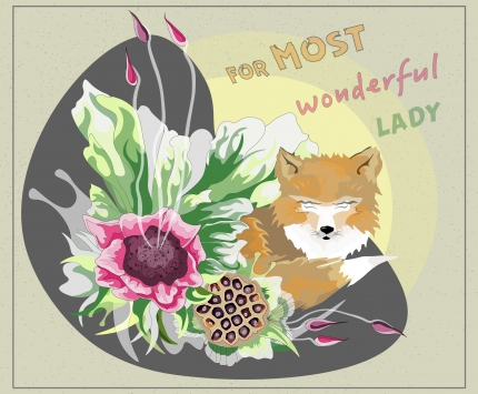 For wonderful lady